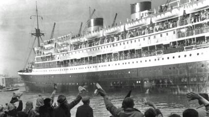 Emigratie-schip